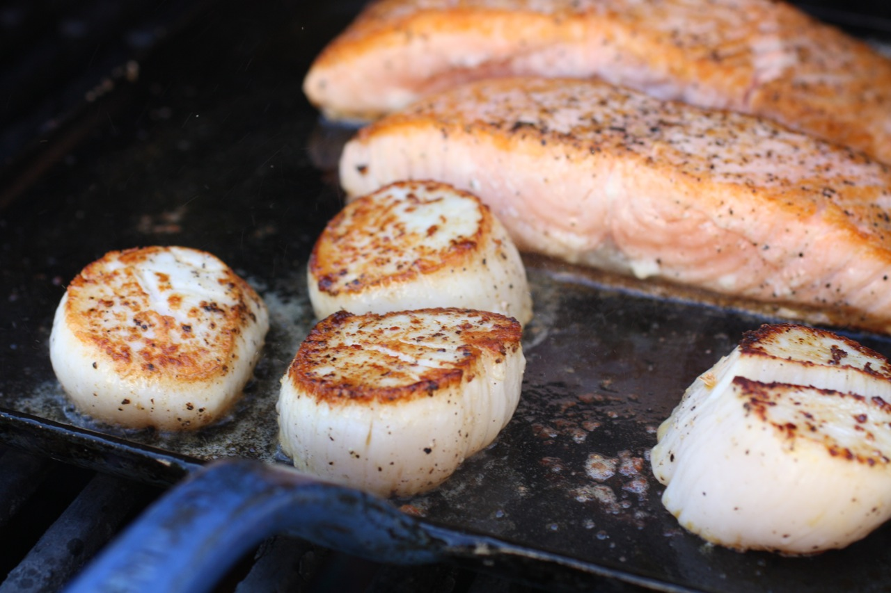 how to cook salmon with skin on one side