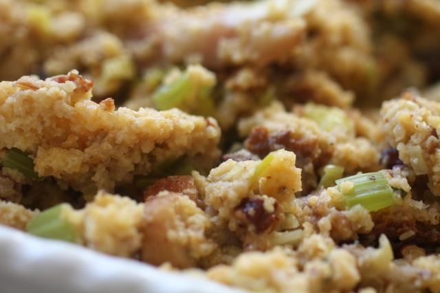 cornbread stuffing with bacon, leeks and pecans | Food Fix ...