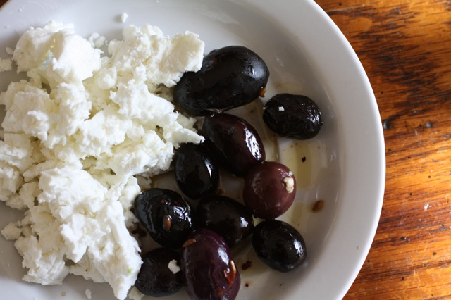 ROASTED BEETS FETA AND OLIVES