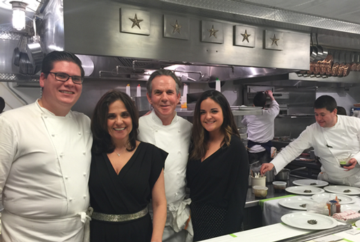 My son, Max, the Sous Chef, Me,  Chef Thomas Keller, My daughter, Lily at the French Laundry 2016