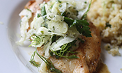 Fennel Seed Crusted Chicken with Fennel Herb Salad