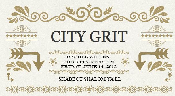 CITY GRIT SHABBAT SHALOM
